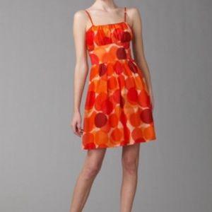 Theory Magali Dress Orange Circle Polka dots 6